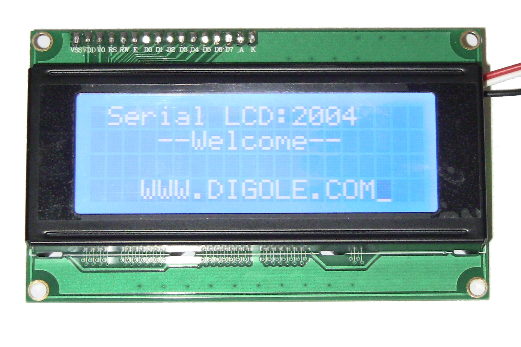 Details about Serial:UART/I2C/SPI 2004 White/Blue LCD+Arduino/mBed  Lib+Sample Code Easy Use