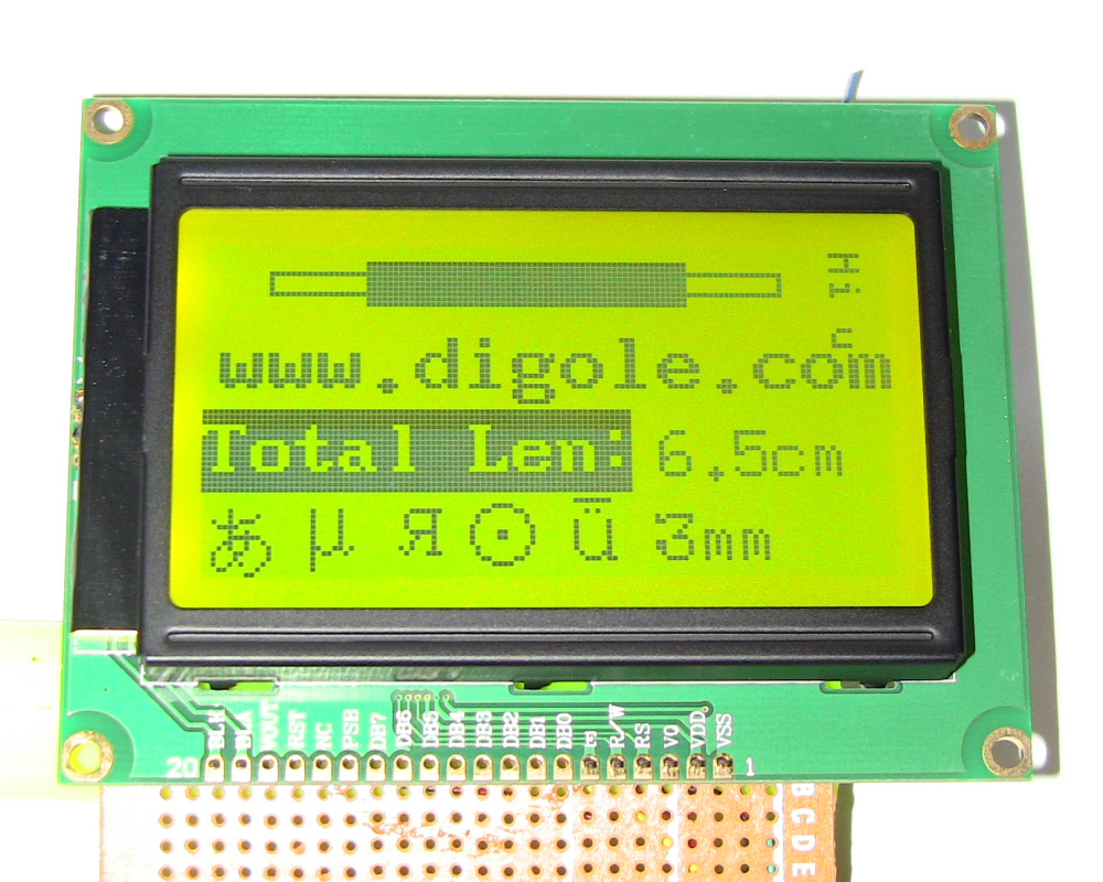 Details about Serial/Parallel 128x64 Dots Graphic LCD Display for  Arduino/AVR/PIC Blk/Ylogrn