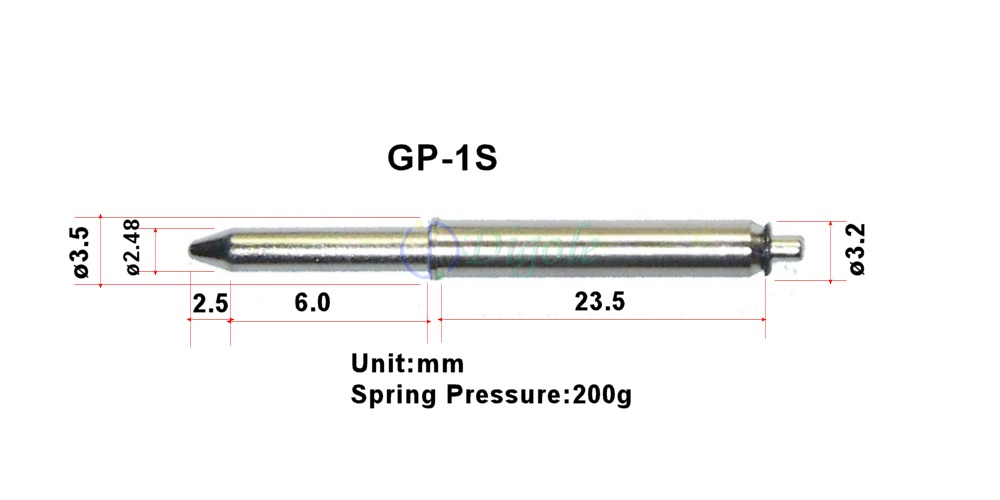 5.0mm 300g 2 Pcs GP-2T Pogo Guide Spring Pins for Test Station Dia